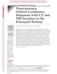 nontraumatic orbital conditions diagnosis with ct and mr imaging