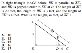 triangles on act math geometry guide and practice problems