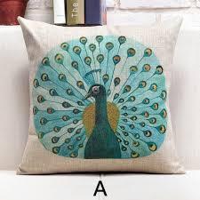 beautiful pillows for sofas peacock decorative pillows for couch beautiful feather print sofa