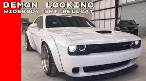 widebody hellcat colors widebody dodge demon looking challenger srt hellcat youtube