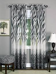 Black And White Window Curtains Chezmoi Collection Black And White Micro Fur Zebra