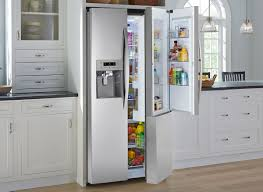 glass door refrigerator use for a small living space throughout