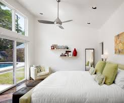Wall Mount Bedroom Fans Louisville Caged Ceiling Fan Patio Contemporary With White