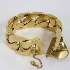 metal chain link bracelet images C line gold oversize plated chain link italy large unisex bracelet jpg