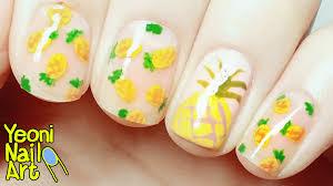 pineapple nail art youtube nail fashion pineapple nails