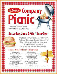 picnic invitation template the curious mind of mia company picnic