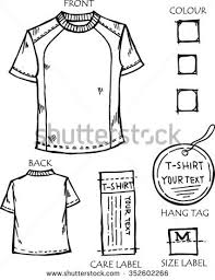 tshirt design sketch concept tshirt design stock vector 352602260