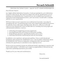How To Type A Cover Letter For Resume Leading Professional Admissions Counselor Cover Letter Example