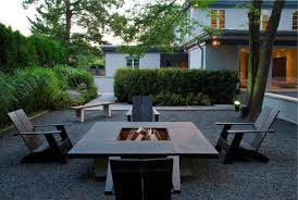 Patio Furniture Chicago by Chicago Modern Fire Pits Patio Contemporary With Gravel Adirondack