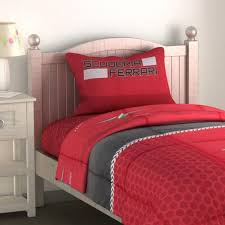 Ferrari Bed Ferrari Red King Size 160 X 240 Cm 144 Thread Count 3 Piece