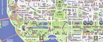 map of washington washington d c map by vandam washington dc streetsmart map