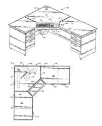 L Shaped Computer Desk Plans Diy Corner Desk From White This Site Has A Million Plans