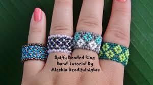 beaded ring bracelet images Spiffy beaded ring band tutorial jpg