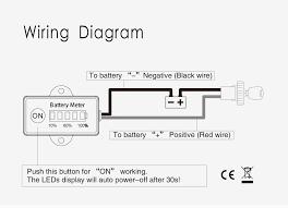 5 led lifepo4 battery voltmeter meter battery capacity tester for
