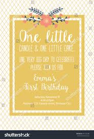 first birthday invitation first birthday stock vector