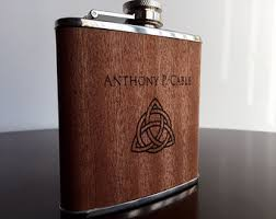 wooden flasks custom hip flask etsy