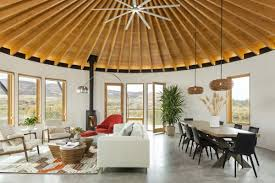 a yurt inspired vacation home on the high desert plains of