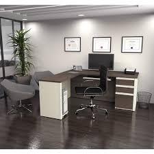 bestar prestige l shaped desk with pedestal free shipping today
