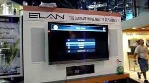 home theater automation elan demos elan g home automation on tv interface at cedia 2010