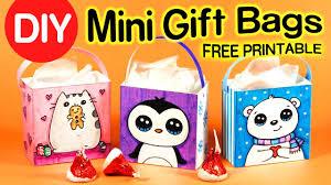 gift bag templates free printable how to make a mini gift bag easy diy holiday crafts youtube