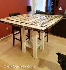 Farm House Table Reclaimed Wood Bar Height Farmhouse Table Hometalk
