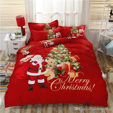 Christmas Duvet Cover Sets New Arrived Christmas Bedding Set King Size Santaclaus Sets 3d