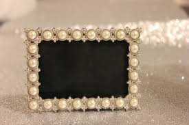 set 8 pearl frames frame mini christmas place card holders