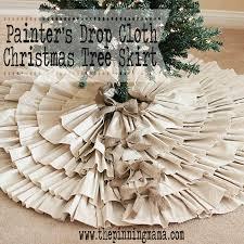 burlap christmas tree skirt diy drop cloth burlap christmas tree skirt by www thepinningmama