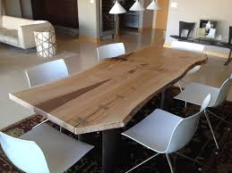 Slab Dining Room Table Live Edge Wood Furniture Custommade Com