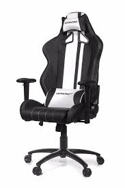 Leather Gaming Chairs Akracing Rush Gaming Chair Black White