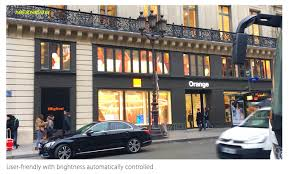the biggest flagship store of france telecom orange opens with