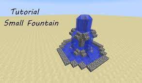 How To Make A Small by Minecraft Tutorial How To Build A Small Fountain Youtube