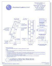 aluminum alternating tread stairs caddetails