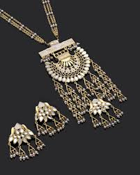golden fashion necklace images Sheesh mahal necklace set inspired by taj golden fashion style jpg