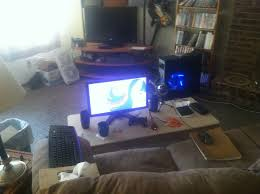 pc gaming living room setup centerfieldbar