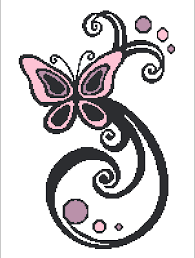 butterfly swirls graph 150x200 crocheting patterns butterfly and