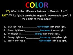 Blue Light Wavelength Color