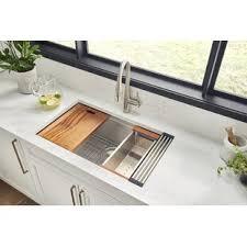 what size undermount sink fits in 30 inch cabinet roma workstation ledge 32 l x 19 w undermount kitchen sink with basket strainer