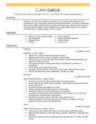 Barback Resume Sample by Bartender Resume Example Template Resume Builder Bartending Resume