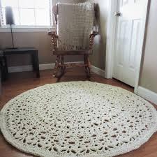 shop crochet round rug on wanelo
