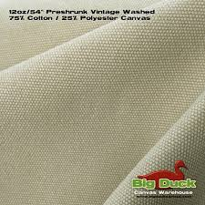 Washing Upholstery Fabric Preshrunk Cotton Canvas Fabric 12oz 54