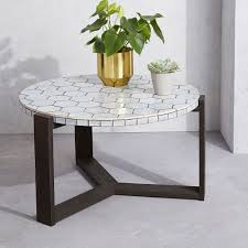 mosaic tiled coffee table spider web west elm