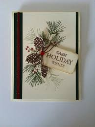ctmh perfectly pine and hello winter christmas card cards