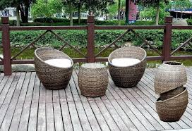 rattan furniture outdoor outdoor wicker chair white seating cushion