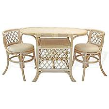 wicker kitchen furniture amazon com borneo compact dining set table with wicker top 2