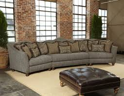 Sofas With Pillows by Furniture Sutton Sectional Sofa With Half Tufted Back Rest And