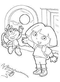166 dora coloring pages images preschool