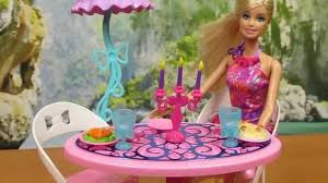 barbie dining room set furniture barbie glam dining room furniture doll set mattel