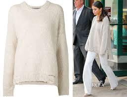 selena gomez sweater selena gomez raquel allegra distressed oversized sweater