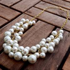 chunky pearl statement necklace images Bubble pearl statement necklace chunky statement necklace etsy jpg